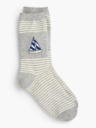 Sailboat Trouser Socks