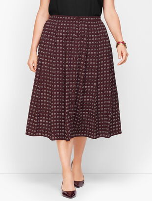 Dotty Bows Midi Skirt
