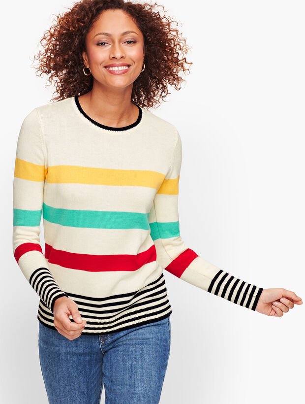 Pima Cotton Stripe Sweater