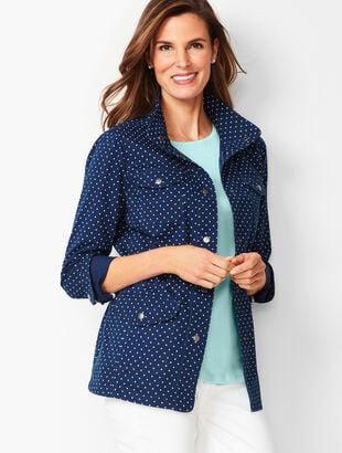 Casual Drawcord Jacket - Dot