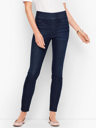 Sculpt Pull-On Denim Jeggings - Empire Wash