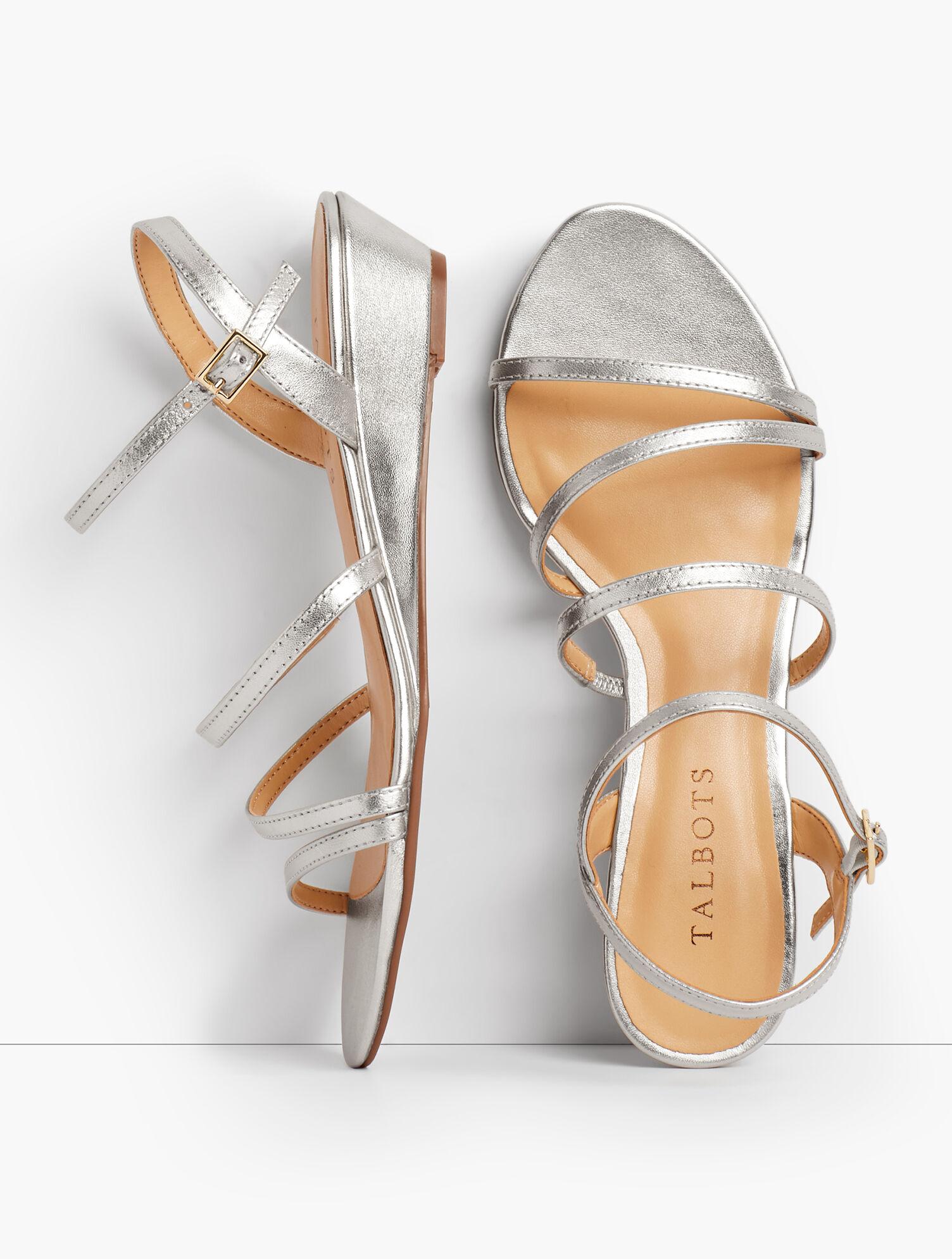 Capri Multi-Strap Mini-Wedge Sandals