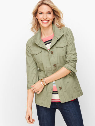 Safari Jacket - Embroidered Sage