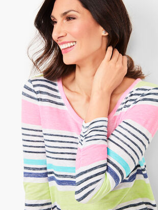 Stripe Featherweight Cinched Tee