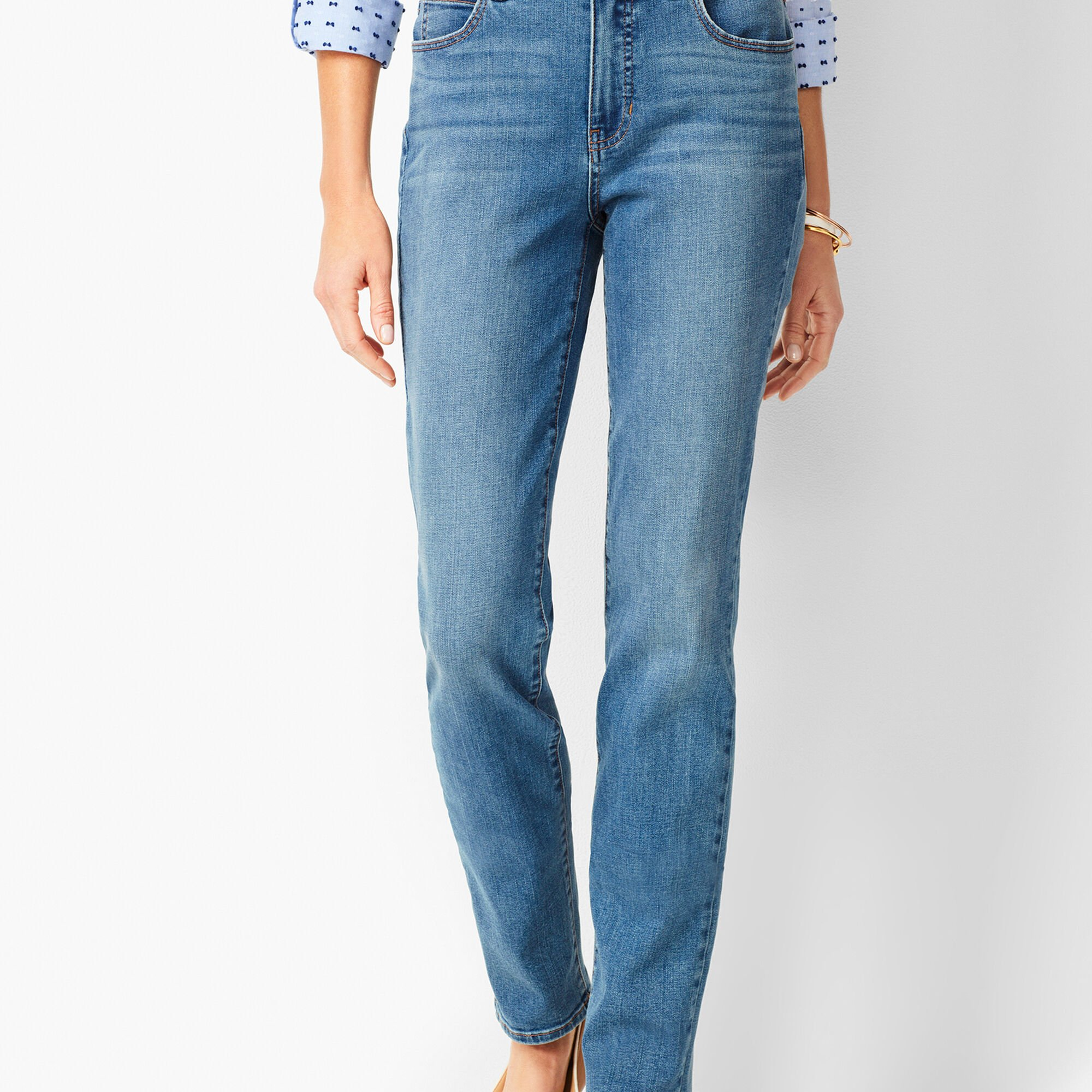 78290d9dee High-Waist Straight-Leg Jeans - Aurora Wash Opens a New Window.