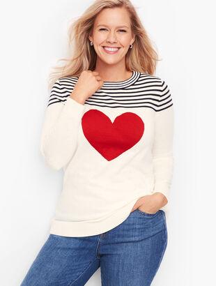 Button Back Heart Sweater