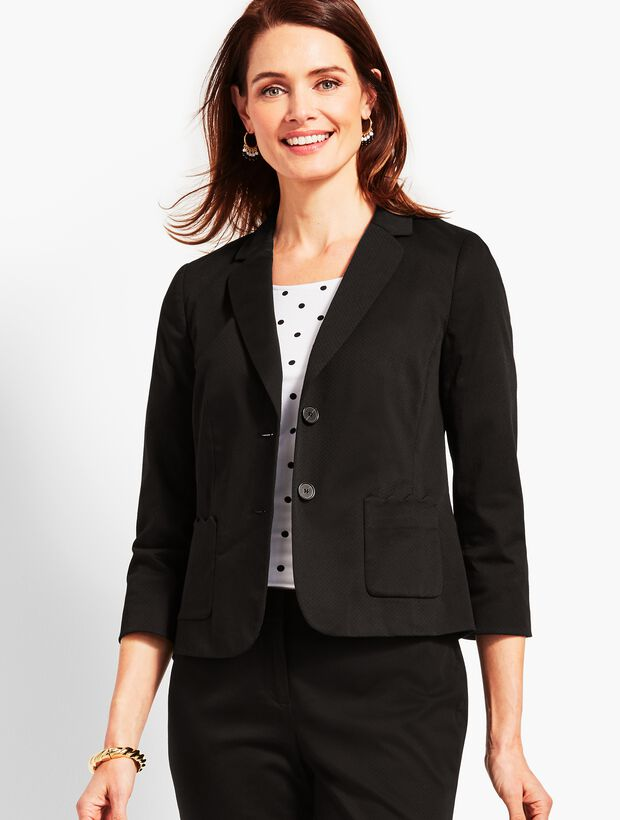 Textured Sateen Blazer