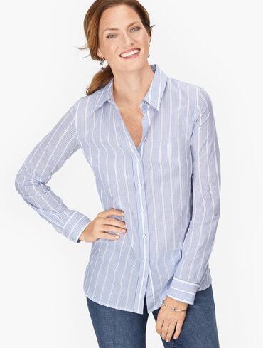 Classic Cotton Shirt - Dobby Stripe