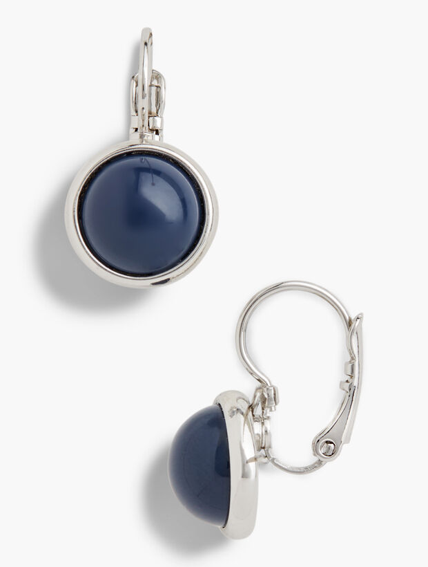 Glass Leverback Drop Earrings