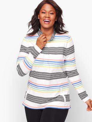UPF 50+ Slub Terry Multi Stripe Pullover