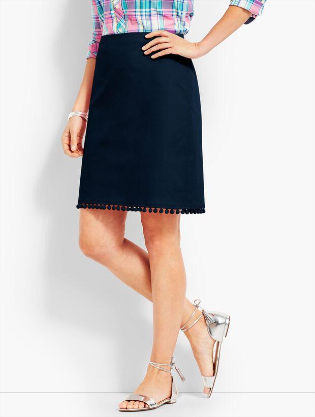 Pom-Pom A-Line Skirt