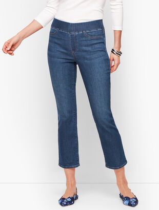 Sculpt Crop Flare Jeans - Maya Blue Wash
