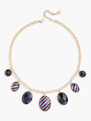 Stripes & Beads Necklace