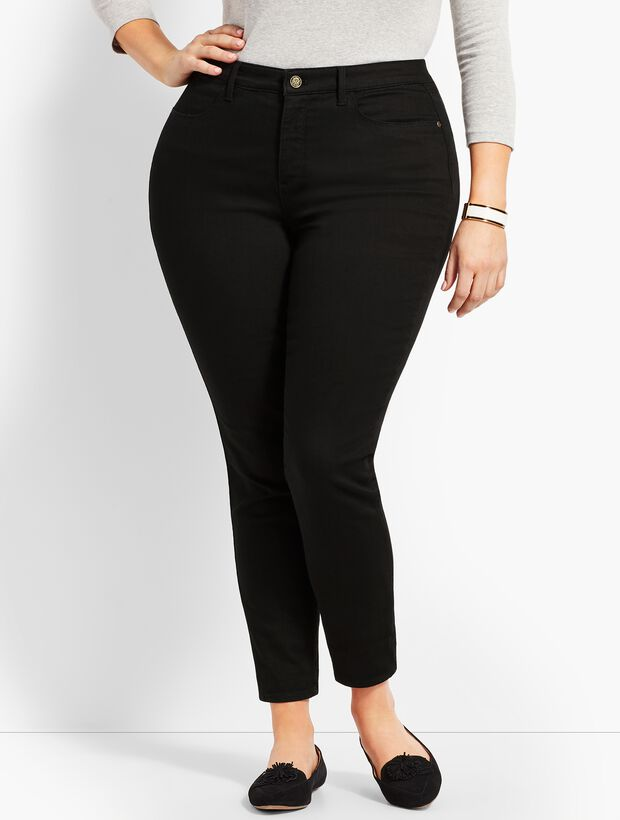 Plus Size Denim Jegging - Curvy Fit - Black