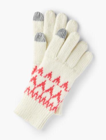 Snowy Fair Isle Gloves