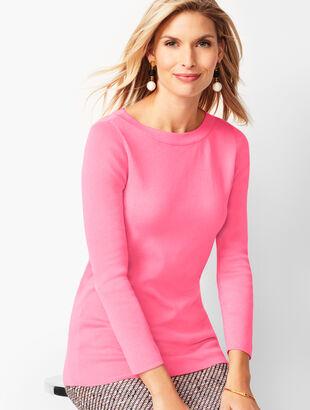 Classic Bateau-Neck Sweater - Solid