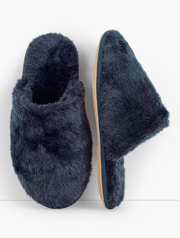 Hot Toddy Faux-Fur Slippers