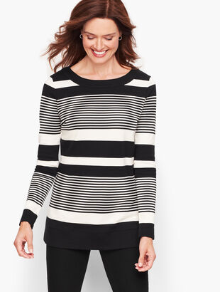 Long Sleeve Tunic - Holly Stripe