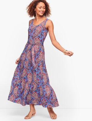 Paisley Tiered Midi Dress