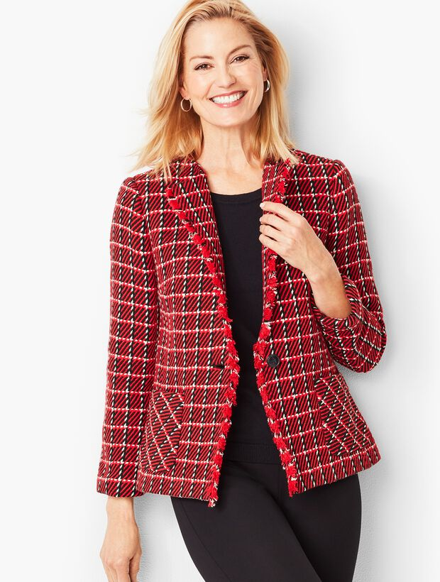 Twill Check Jacket