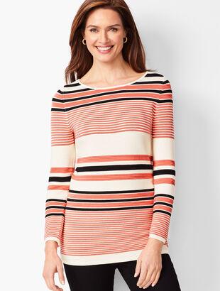 Ottoman Rib Stripe Sweater
