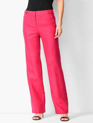 Talbots Windsor Wide-Leg Linen Pants