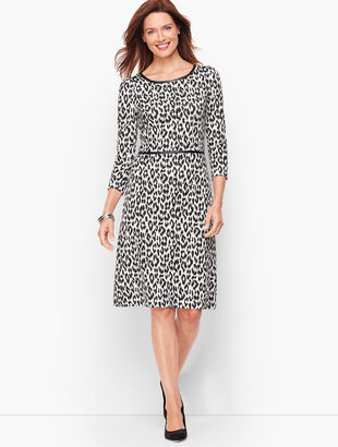 Refined Ponte Dress - Leopard