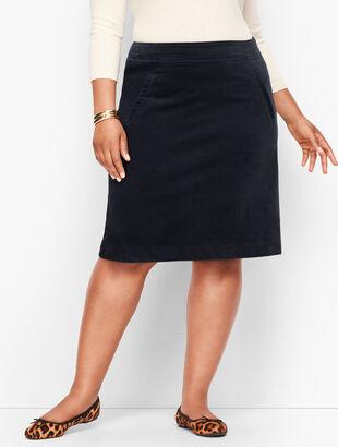 Corduroy A-Line Skirt