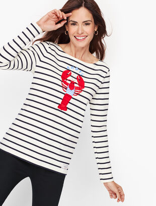 Authentic Talbots Tee - Lobster Stripe