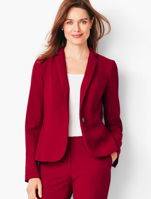 Italian Luxe Double-Cloth Peplum Blazer