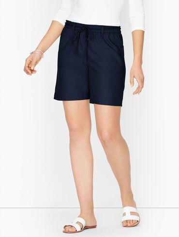 """Summer Twill Pull-On Shorts - 6"""""""