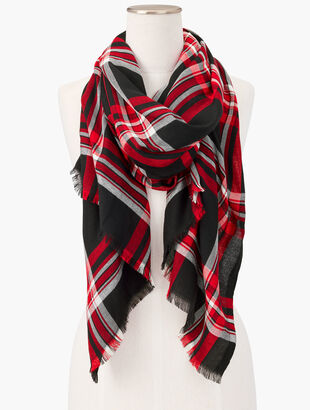 Delightful Plaid Oblong Scarf