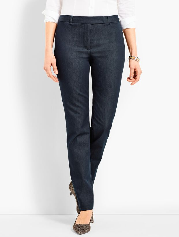 Bi-Stretch High-Waist Straight-Leg Pant - Polished Denim