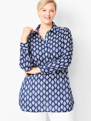 Plus Size Side-Button Popover - Medallion