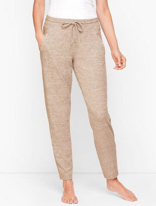 Brushed Mélange Straight Leg Pants
