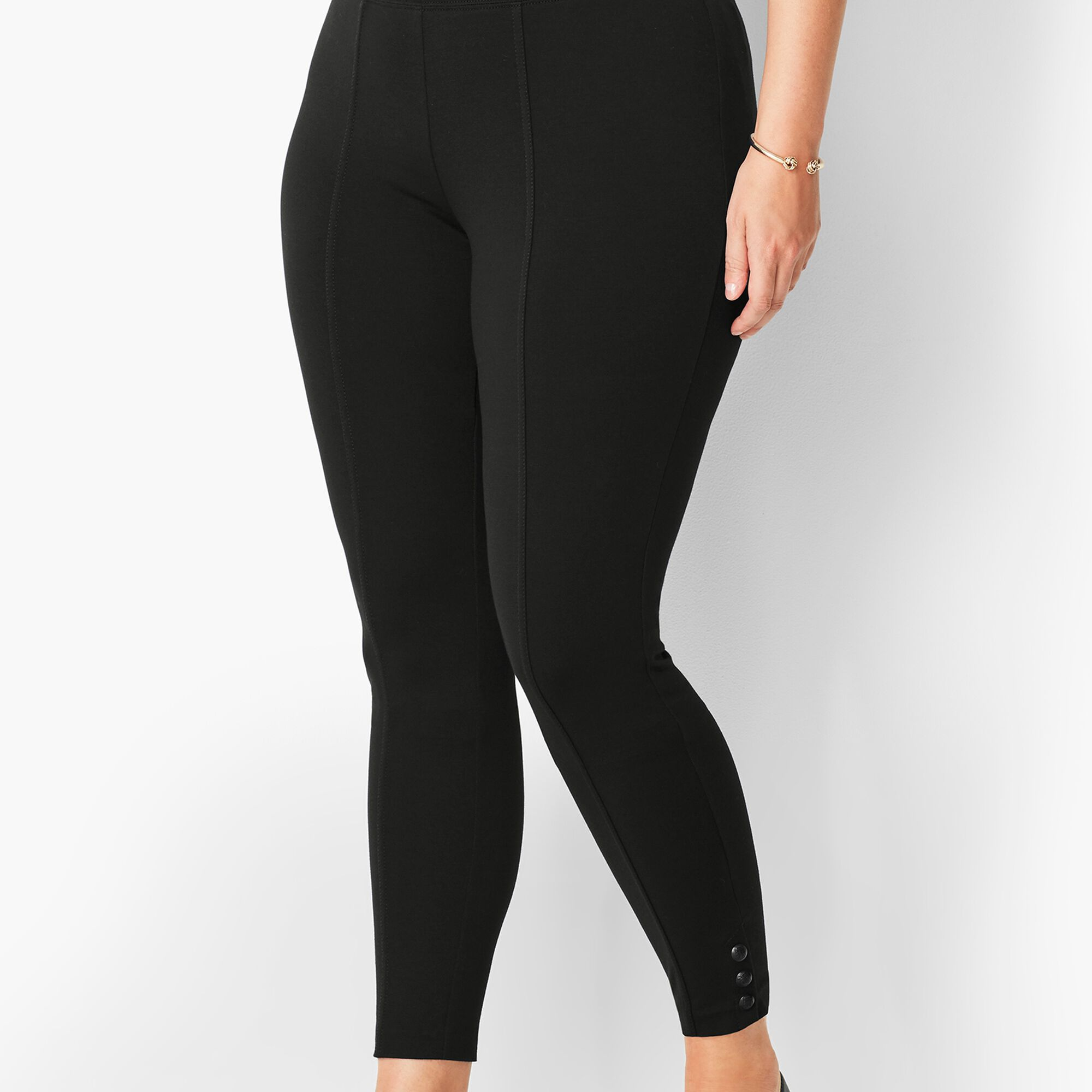 1bf2ce1aa Ankle-Snap Ponte Leggings - Solid