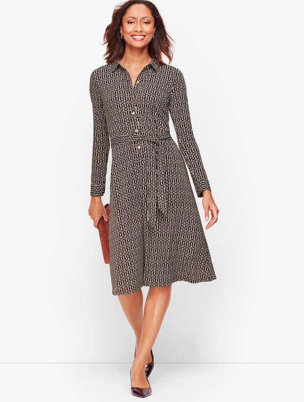 Equestrian Print Jersey Shirtdress by Talbots