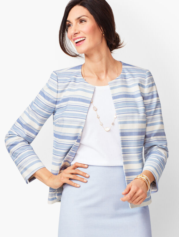 Stripe Biscay Open-Front Jacket