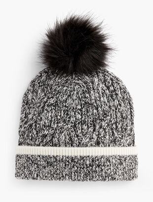 Marled Pompom Hat