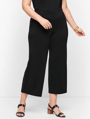 Knit Jersey Wide Leg Crops