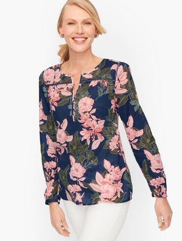 Cotton Popover - Playful Floral
