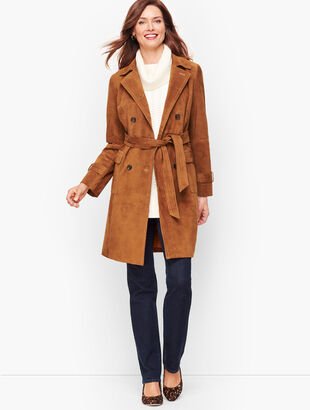 Luxe Suede Trench Coat