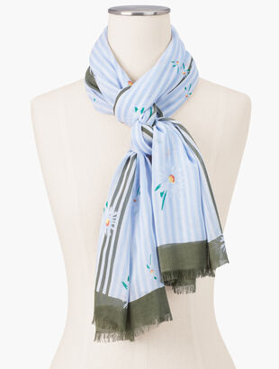 Daisy Clusters Oblong Scarf