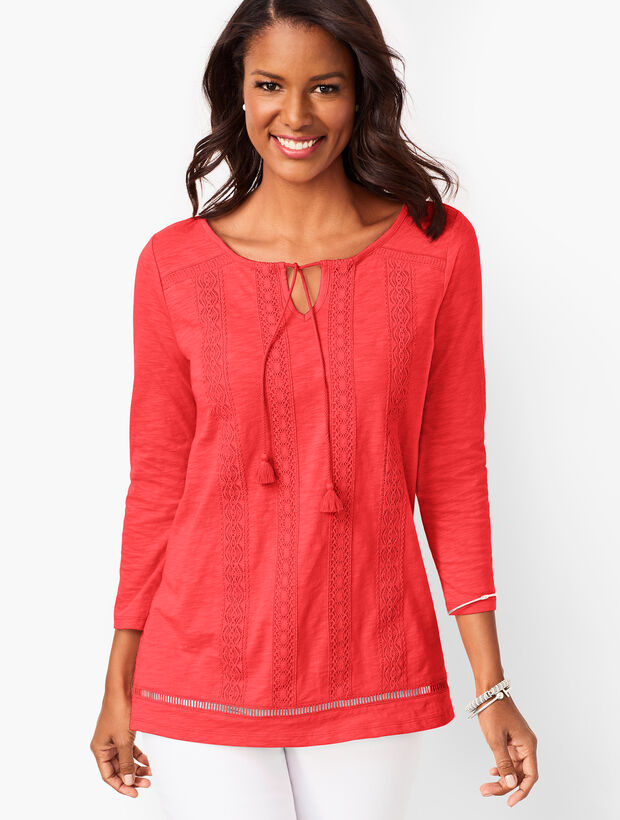 Crochet-Stripe Top