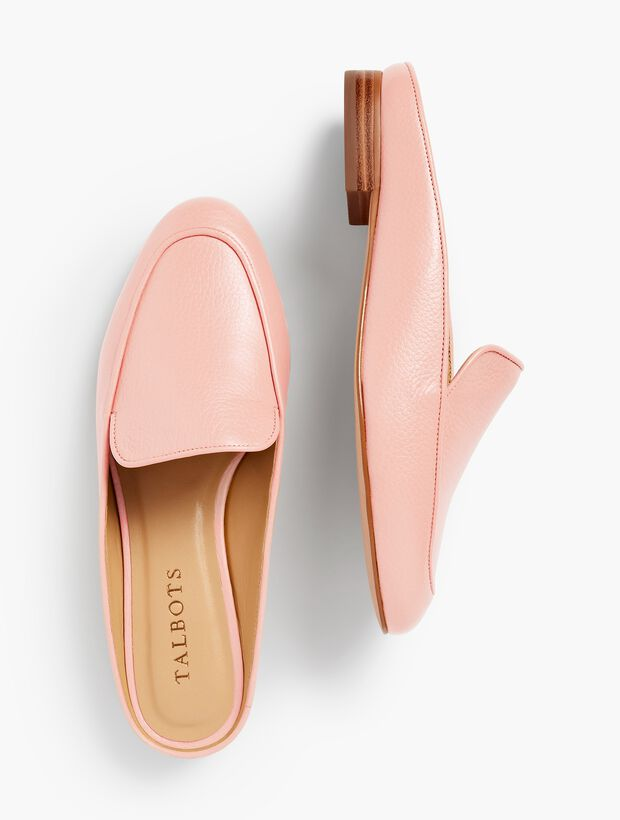 Frannie Pebble Leather Mules