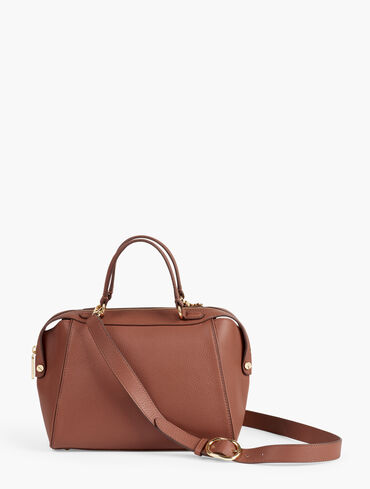 Pebbled Leather Satchel Bag