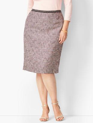 Ombré Tweed Pencil Skirt