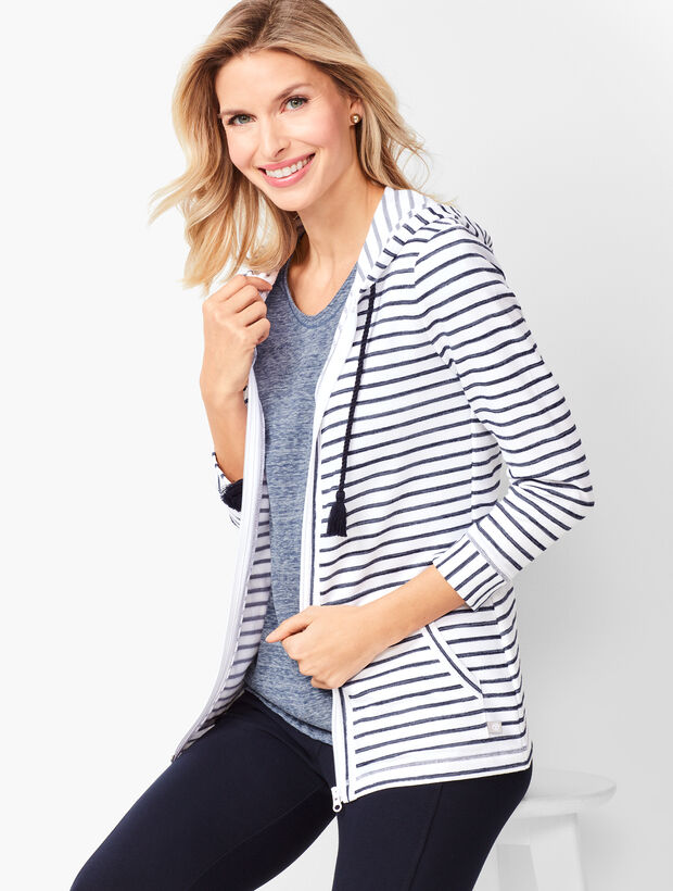 Three-Quarter Sleeve Stripe Jacket