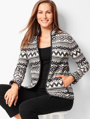 Geo-Print Fair Isle Polar Fleece Jacket