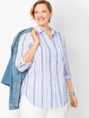 Classic Cotton Shirt - Variegated Stripe